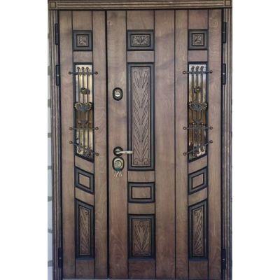 Дверь Троя двухстворчатая Корабельная фанера с терморазрывом