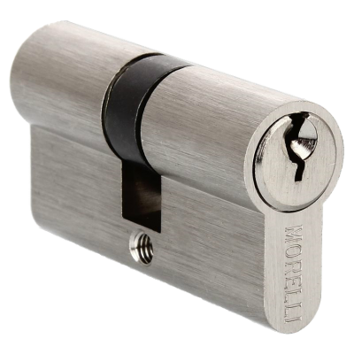 Ключевой цилиндр MORELLI ключ/ключ (70 мм) Белый никель