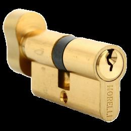 Ключевой цилиндр MORELLI с поворотной ручкой (60 мм) Золото