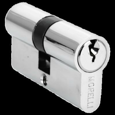 Ключевой цилиндр MORELLI ключ/ключ (50 мм) Хром