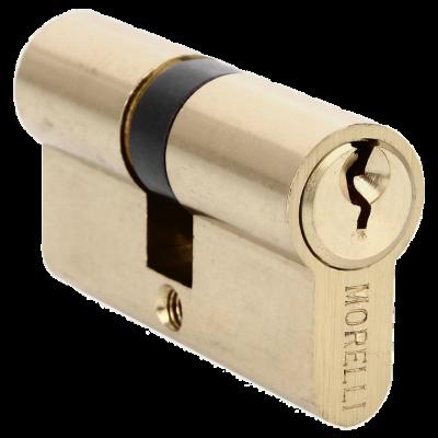 Ключевой цилиндр MORELLI ключ/ключ (50 мм) Золото