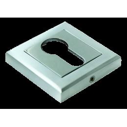 Накладка на ключевой цилиндр MORELLI Матовый хром / полированный хром