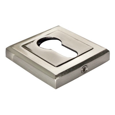 Накладка на ключевой цилиндр MORELLI Белый никель / черный никель