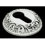 Накладка на ключевой цилиндр MORELLI Белый / хром