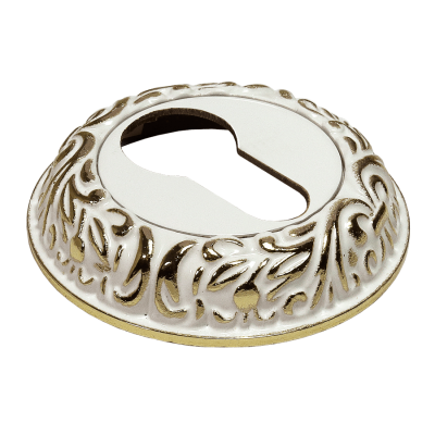 Накладка на ключевой цилиндр MORELLI Белый / золото