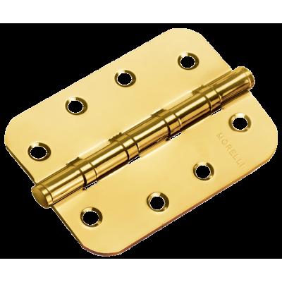 Дверная петля MORELLI стальная универсальная скругленная Матовое золото