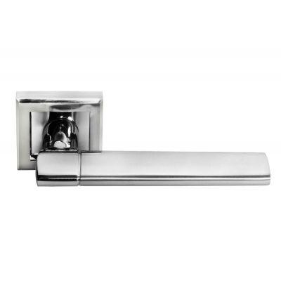 Дверная ручка MORELLI Матовый хром / хром