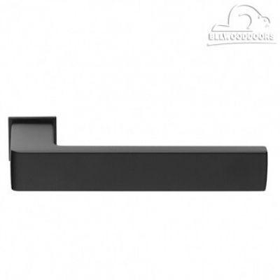 HORIZONT-SM NERO, ручка дверная, с невидимой квадратной розеткой, цвет - черный