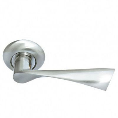 Дверная ручка Morelli «Капелла» MH-01 SN (Белый никель)
