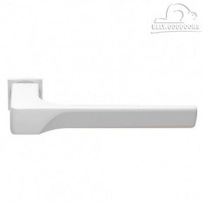 FIORD-SM BIA, ручка дверная, с невидимой квадратной розеткой, цвет - белый