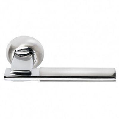 """MH-13 SN/CP, ручка дверная """"Упоение"""", цвет -белый никель\полированный хром"""