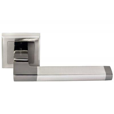 Дверная ручка MORELLI Белый никель / черный никель