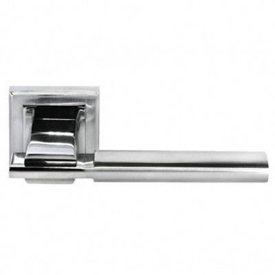 Дверная ручка Morelli DIY MH-13 SN/CP «Упоение» (Белый никель / Хром)