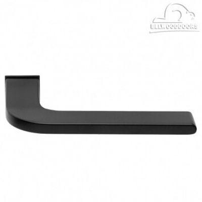 SPUTNIK-SM NERO, ручка дверная, с невидимой квадратной розеткой, цвет - черный