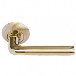 Дверная ручка Morelli «Колонна» MH-03 SG/GP (Матовое золото / Золото)