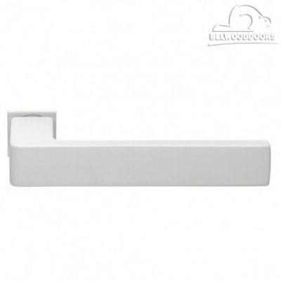 HORIZONT-SM BIA, ручка дверная, с невидимой квадратной розеткой, цвет - белый