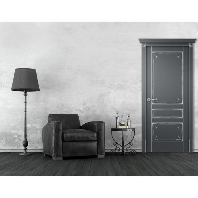 поэтому, белые двери модерн на серой стене фото бесплатно широкоформатные обои